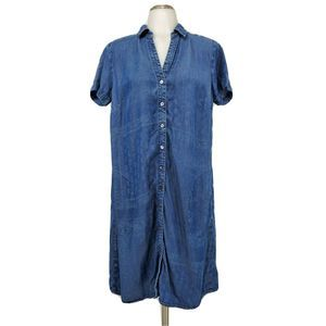J Jill Denim Chambray Dress Tencel Buttons